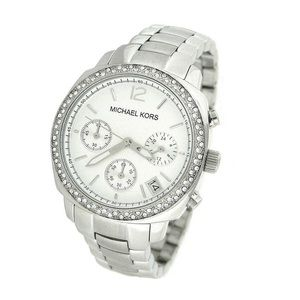 Michael Kors Crystal Chronograph Bracelet Watch